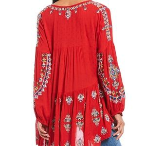4f69e4fccab Free People Tops - Free People Arianna Woven Embroidered Balloon